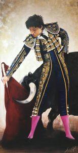 """Andrés Roca Rey"""" Óleo y acrílico sobre lienzo. 110 x 220 cm."""