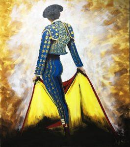 """""""EL DIESTRO"""" Óleo y Acrílico sobre lienzo. 150x170 cm. 3.500 € VENDIDO"""